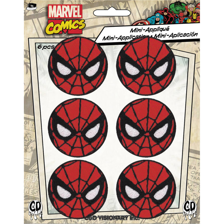 """Marvel Comics Patch, Spiderman, 1.625"""", Round, 6pk"" P-MVL6-0039"
