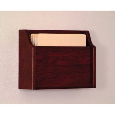 Wooden Mallet Deep Pocket File Holder in Mahogany - image 1 of 1