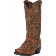 "Dan Post Western Boots Mens 13"" Flat Head Jake Studs Tan DP2204"