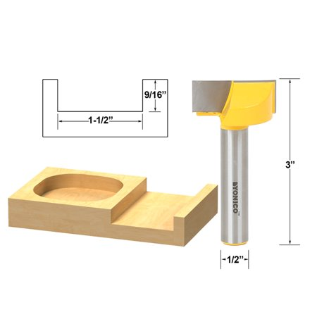 Bottom Cleaning Dado Router Bit 1-1/2