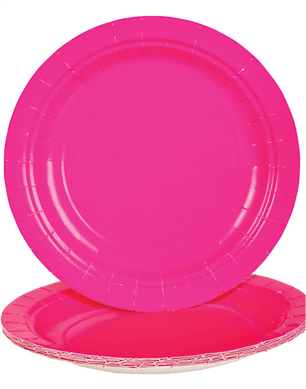 Lot 25 7\  Hot Pink Lunch Dinner Party Paper Plates  sc 1 st  Walmart & Lot 25 7\