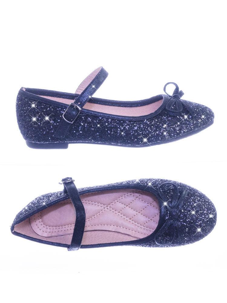 5785f9769 Marina36K by Link, Children Girls Glitter Ballerina Ballet Flat Round Toe  Mary-Jane Strap