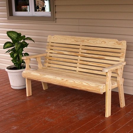 Phenomenal Amish Heavy Duty 800 Lb Classic Pressure Treated Garden Bench 4 Foot Unfinished Spiritservingveterans Wood Chair Design Ideas Spiritservingveteransorg