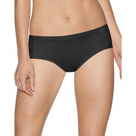 Hanes Ultimate Cotton Stretch Hipster - Size - 6 - Color - Black