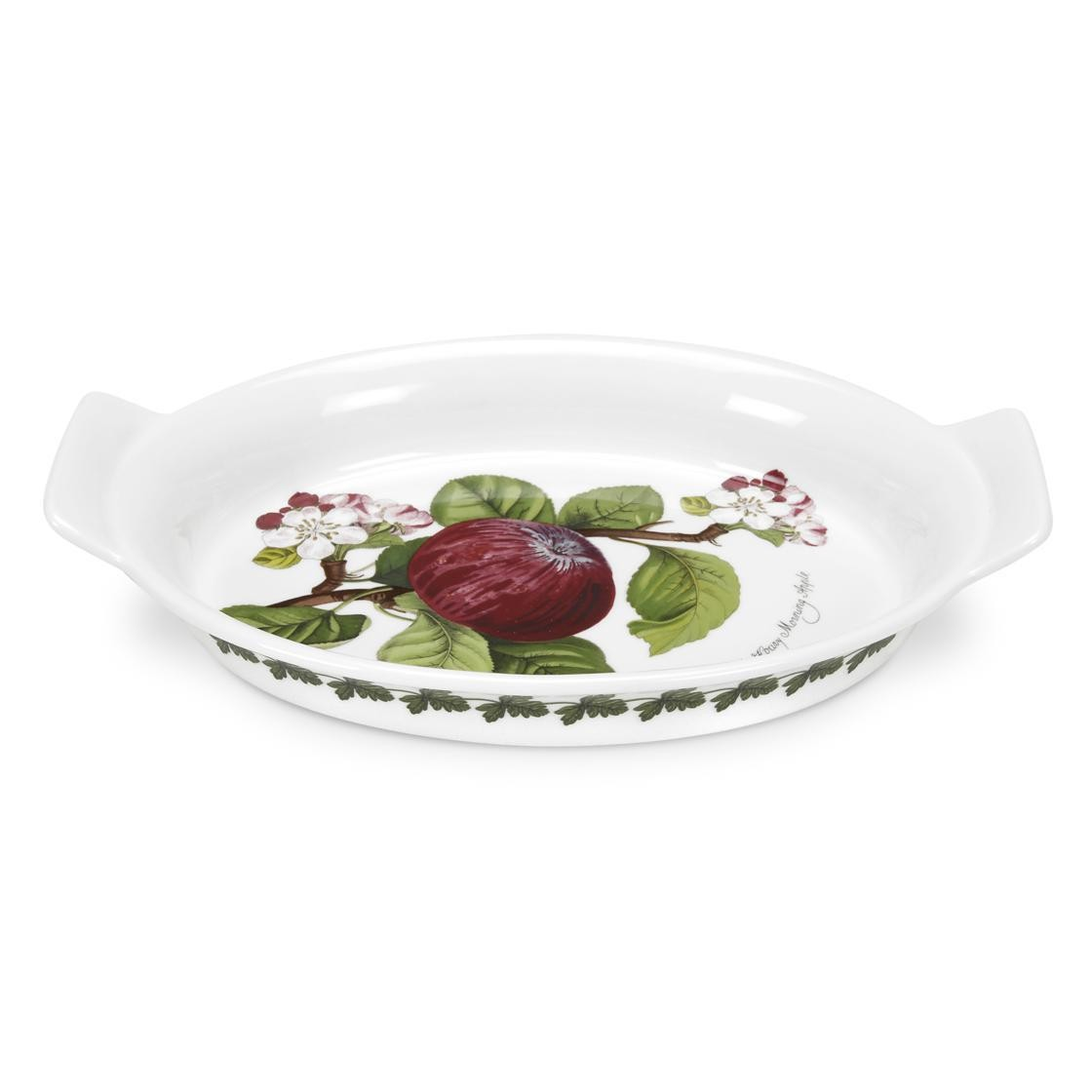 Portmeirion Pomona Gratin Dish, Oval (Hoary Morning Apple)