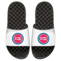 Detroit Pistons Youth Primary iSlide Sandals - White