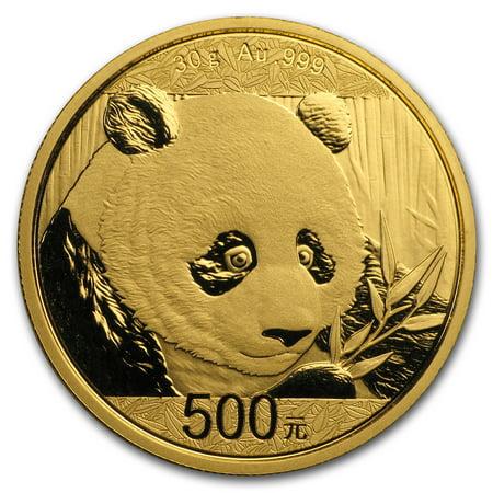 2018 China 30 gram Gold Panda BU - Gold Panda