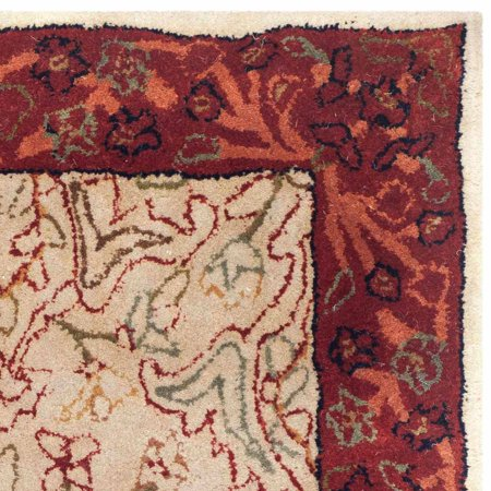 - Safavieh Persian Legend Leandre Hand-Tufted New Zealand Wool Area Rug, Ivory/Rust