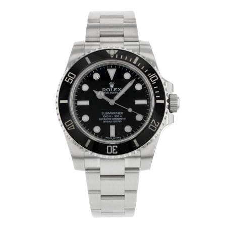 Pre-Owned Rolex Oyster Perpetual Submariner 114060 Stainless Steel Automatic Mens Watch