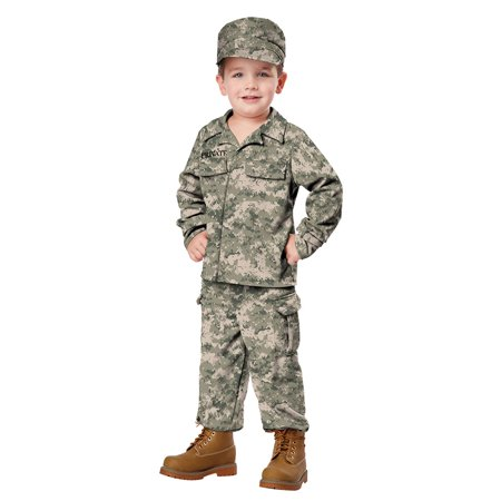 Toddler Soldier Halloween Costume Size Medium 3T-4T for $<!---->