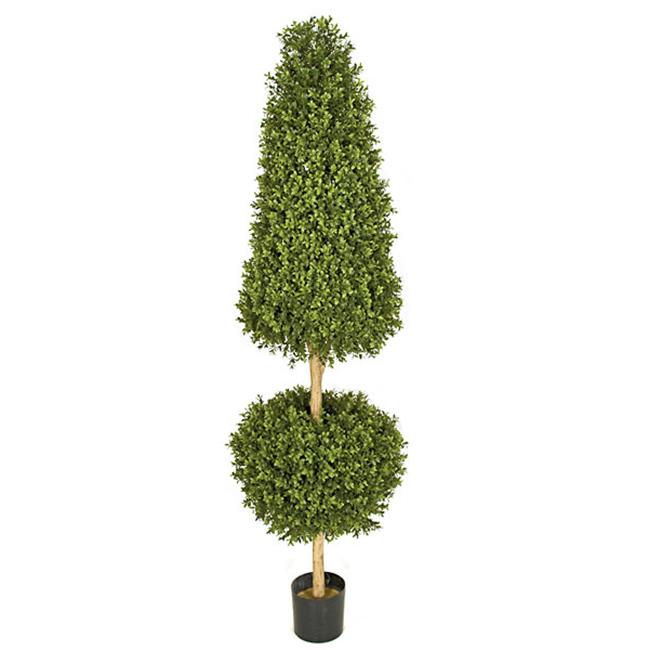Autograph Foliages AUV-102790 6 ft. Boxwood Ball & Cone Topiary, Tutone Green
