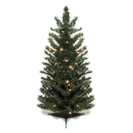 Vickerman 2.5 ft. Pre-lit Canadian Pine Artificial Christmas Tree ...