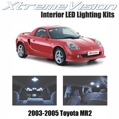 XtremeVision LED for Toyota MR2 2003-2005 (2 Pieces) Cool White Premium Interior LED Kit Package + Installation