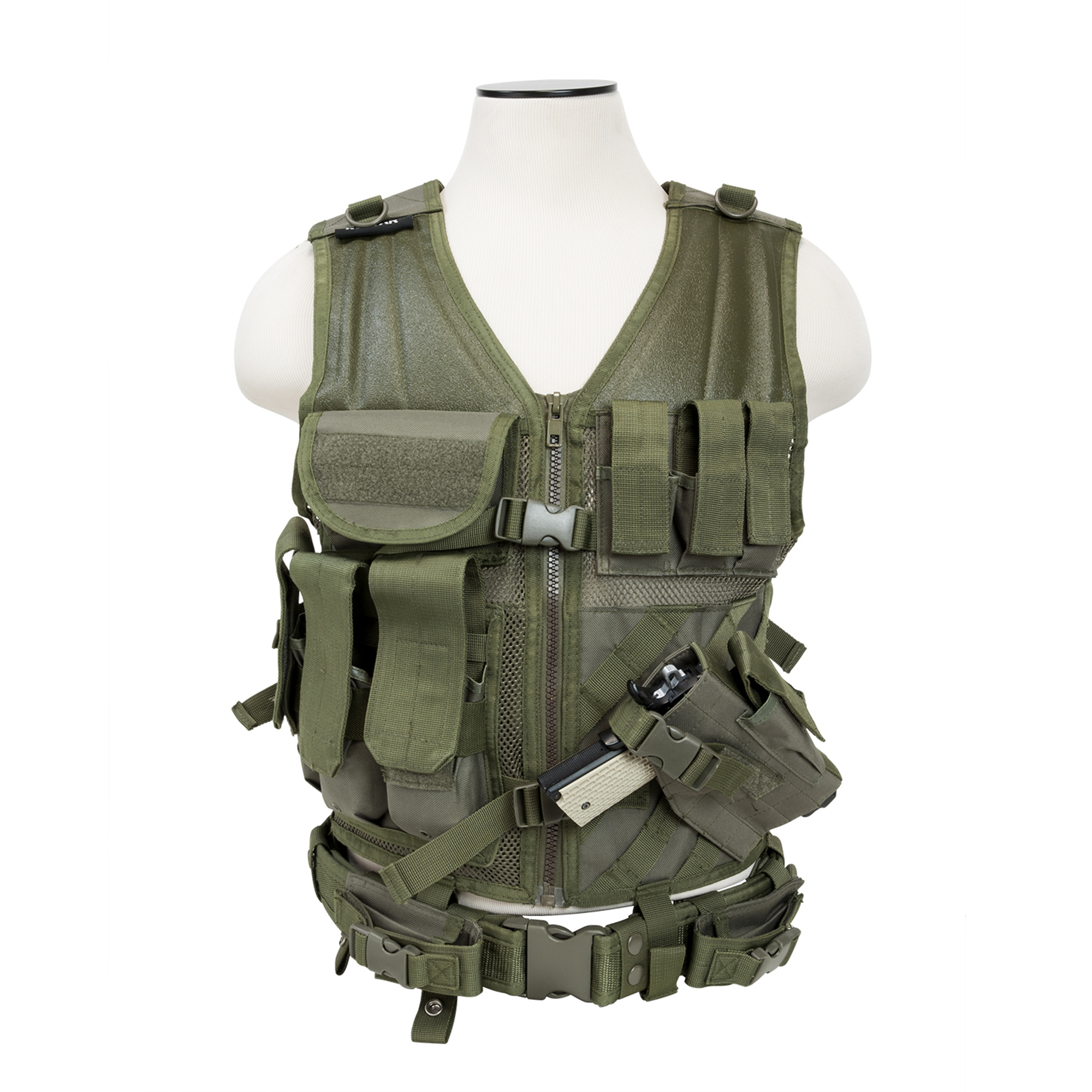NcStar Tactical Vest Green, XL-XXL+