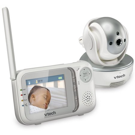 Vtech Vm333 Expandable Digital Video Baby Monitor With Pan   Tilt Camera And Automatic Night Vision  1 Parent Unit  White