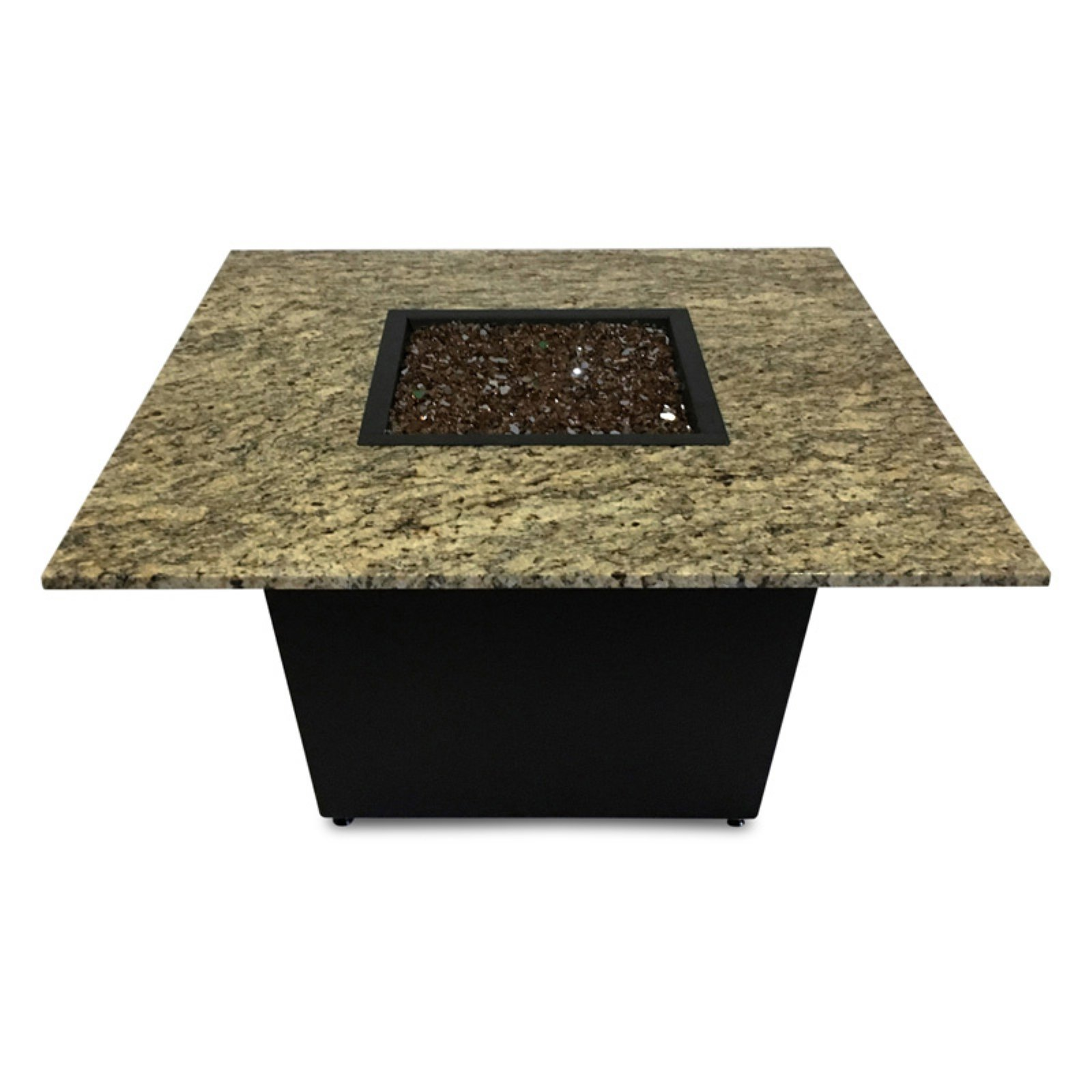 Firetainment Venice 42 in. Fire Table with Reflective Fire Glass