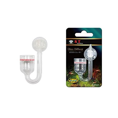 S.T. International Aquarium CO2 Glass Diffuser, Short, 25mm By ST