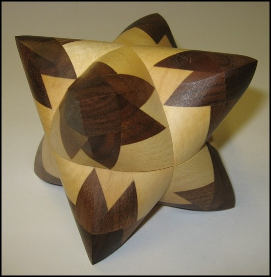 Dual Tetrahedron 21 Wooden Puzzle Brain Teaser by