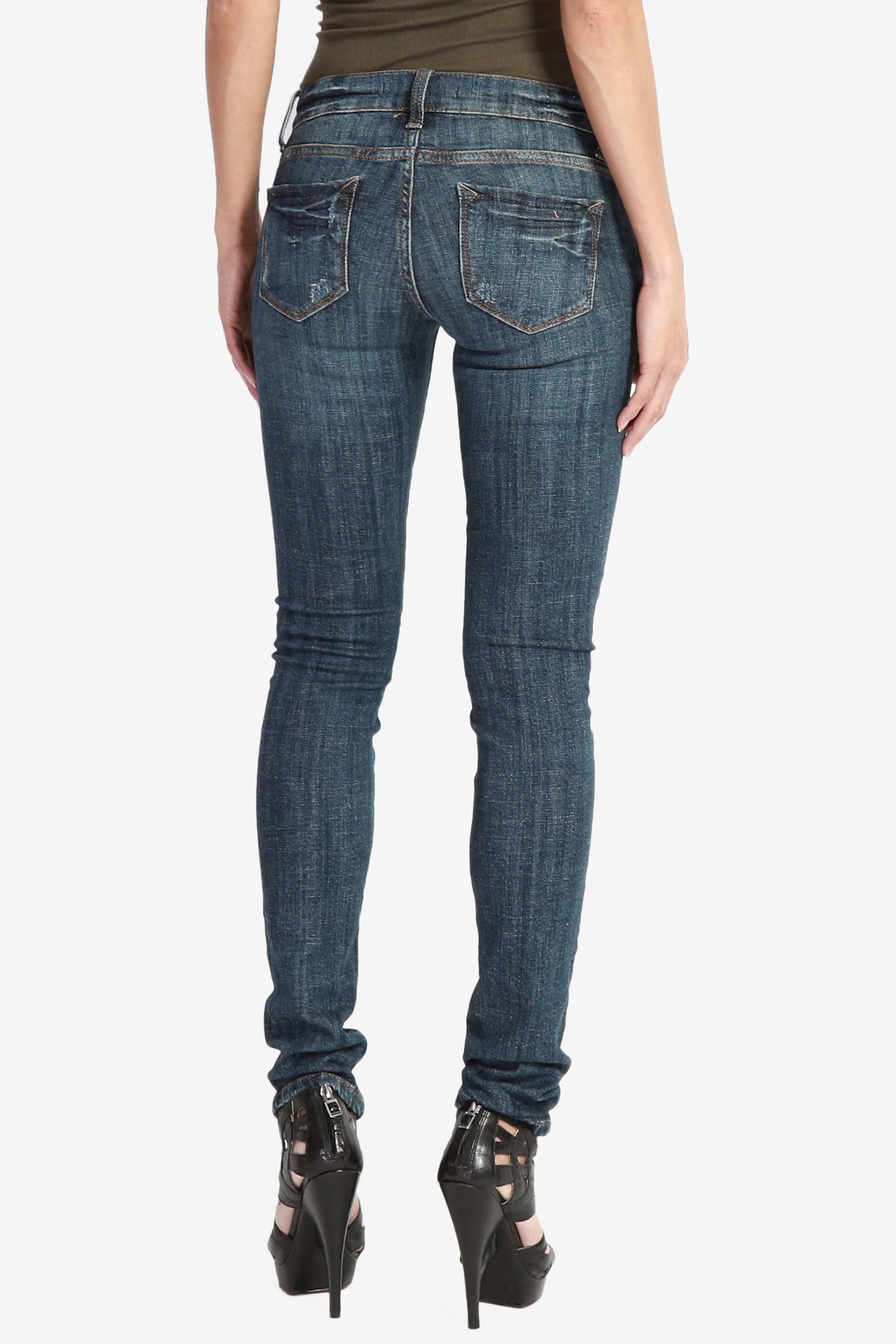 f80323dc8a TheMogan Women s Slim Fit Dark Wash Stretch Skinny Jeans Dark 7 -  Walmart.com