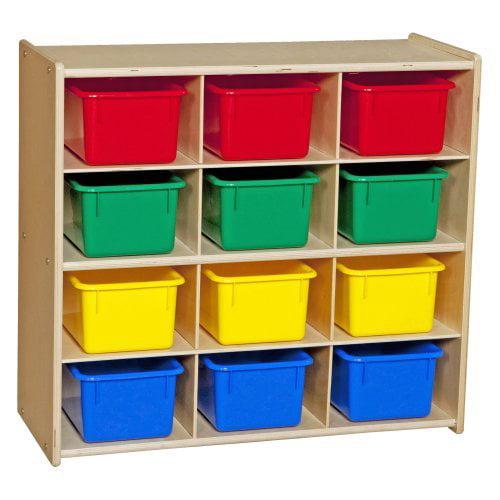 Wood Designs Contender Baltic Birch 12 Cubby Storage Unit