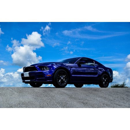 Muscle Car Decor (LAMINATED POSTER Muscle Car Car Auto Vehicle Ford Mustang Mustang Poster Print 24 x)