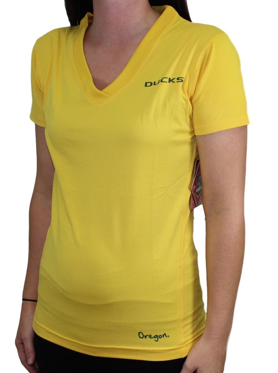 Oregon Ducks Women's Breeze V-Neck Performance Shirt by Colosseum