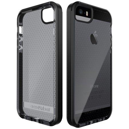 differently 8adb7 ba5f3 iPhone SE/5s/5 Case, Tech21 BLACK/SMOKE EVO MESH ANTI-SHOCK CASE TPU COVER  FOR APPLE iPHONE 5/5s/SE