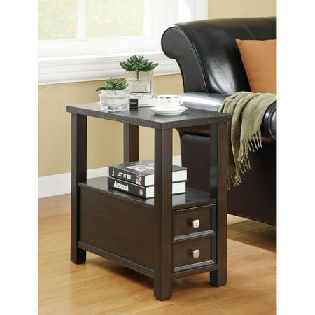 Coaster Furniture Contemporary Cappuccino Chairside End Table (Coaster Furniture Contemporary Table)