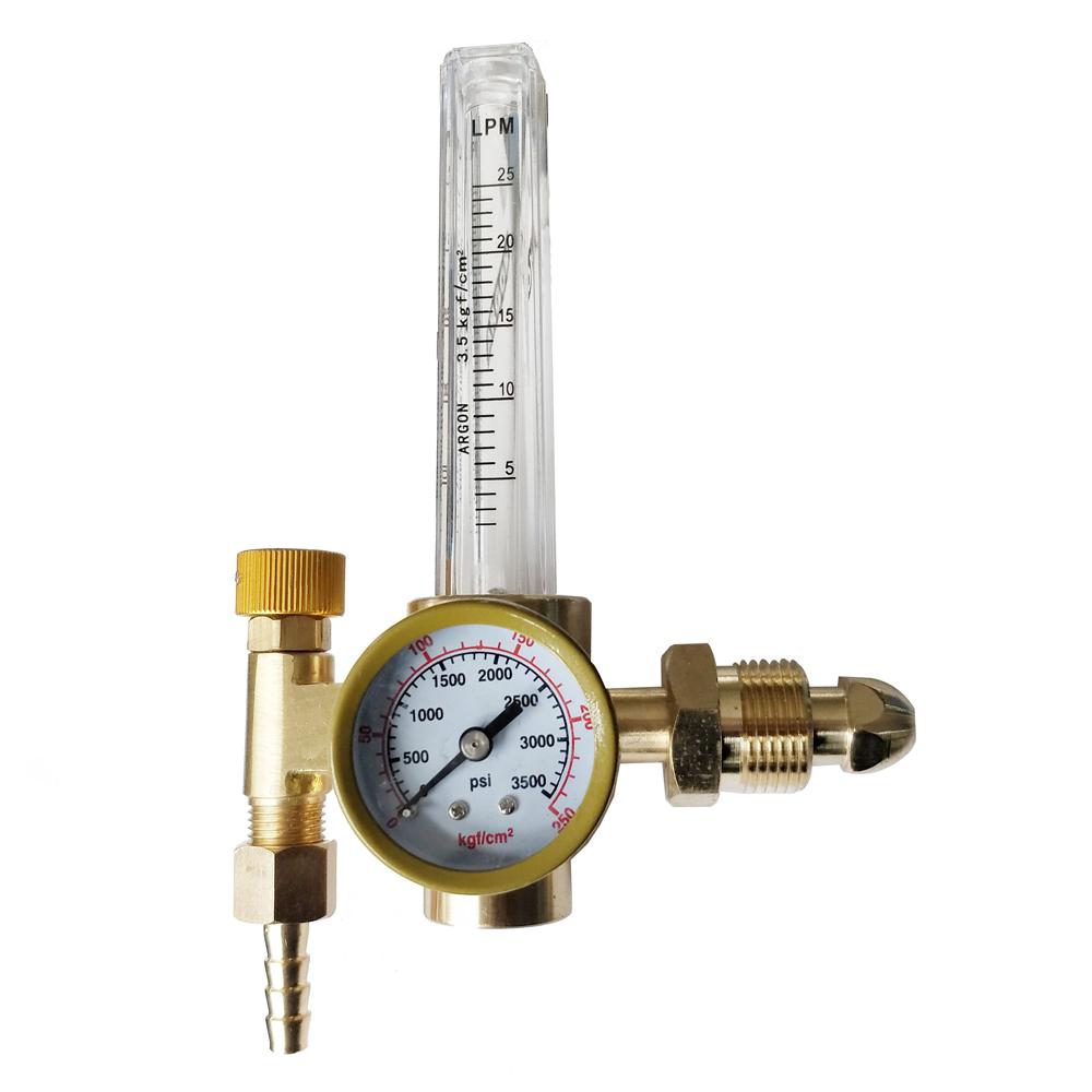 Zimtown Argon CO2 Pressure Reducer, CGA580 Inlet Connection Regulator Flowmeter, for TIG MIG Gas Welding