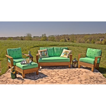 4pc Jimmy Buffet Margaritaville Patio Furniture Conversation Set With Reversible Cushions Green