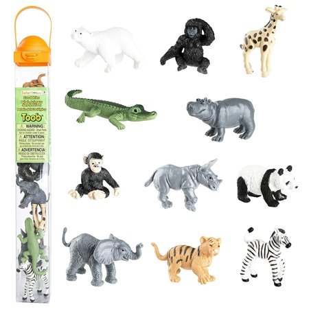 Safari Ltd Zoo Babies Toy Figurine TOOB With 11 Adorable Baby Animals  – Ages 3 And Up