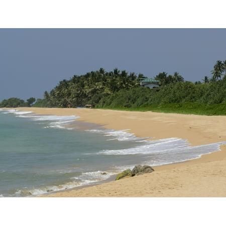 Quiet Beach Along A2 Road Bentota Southern Province Sri Lanka Poster Print