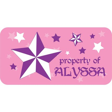 Personalized Kids Property Labels  Rock Star