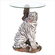 SWM 39587 White Tiger Accent Table