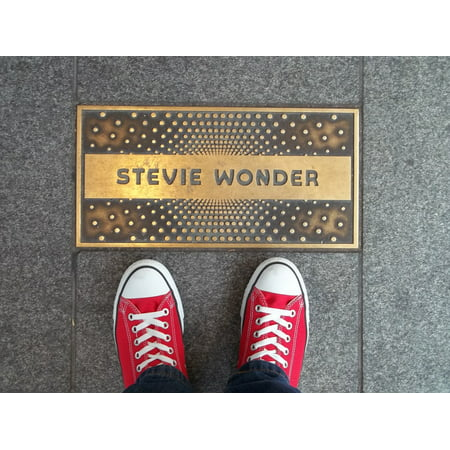 Laminated Poster Singer Stevie Wonder Apollo Theater Plaque Shoes Poster Print 11 x 17
