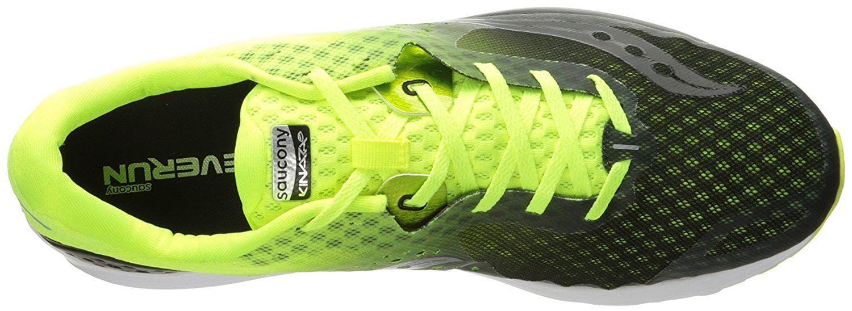 Saucony Men's Kinvara 8 Running Shoe, Black/Citron, 11 UK/12 M US