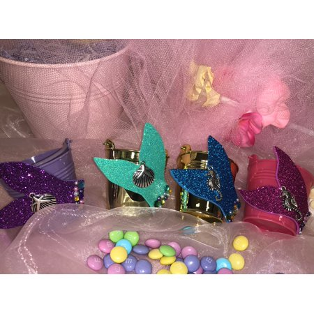 Charmed Little Mermaid Beach Party Candy Bucket Birthday Bridal Shower Sweet 15/16; 2