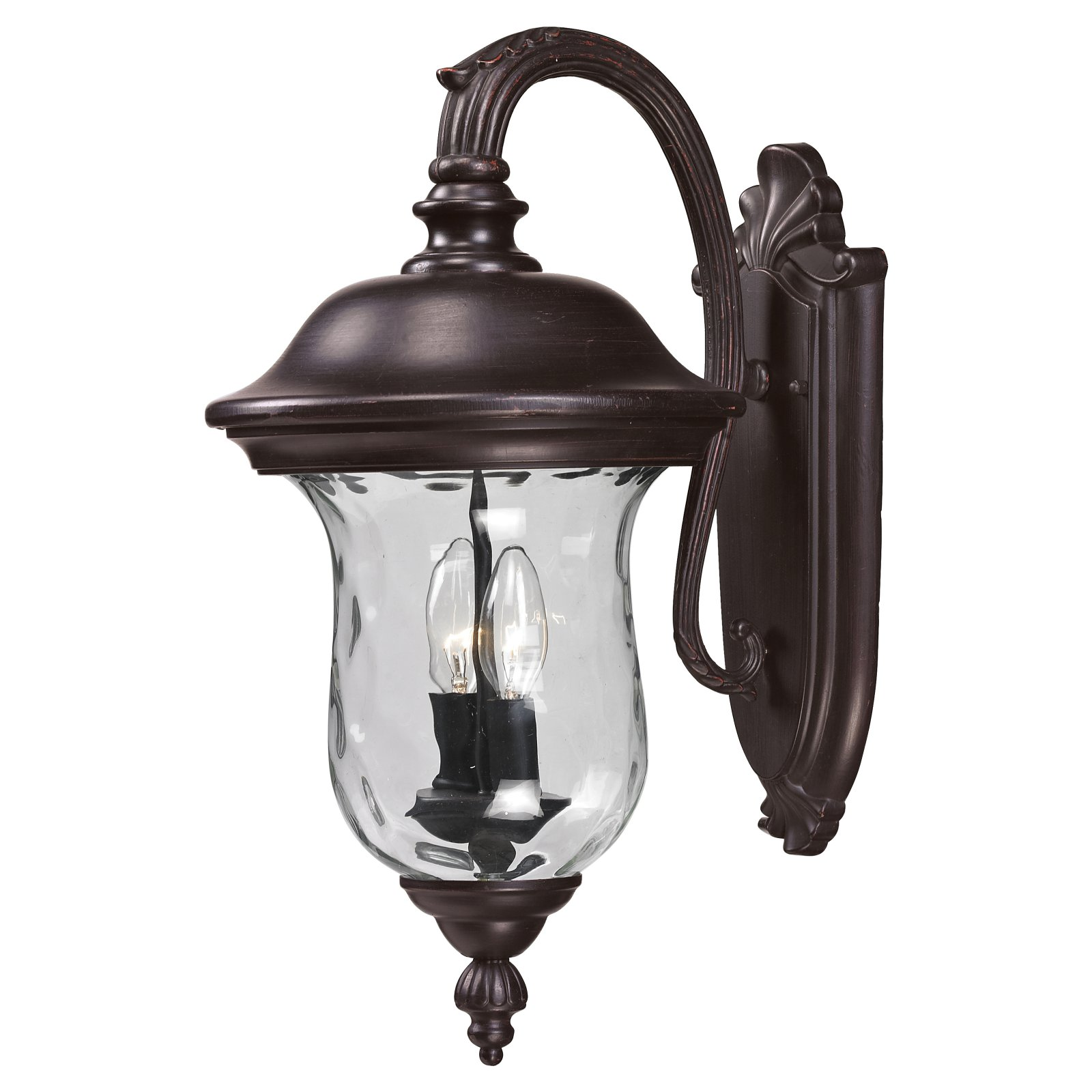 Z-Lite Armstrong Outdoor 2-Light Wall Sconce, Bronze