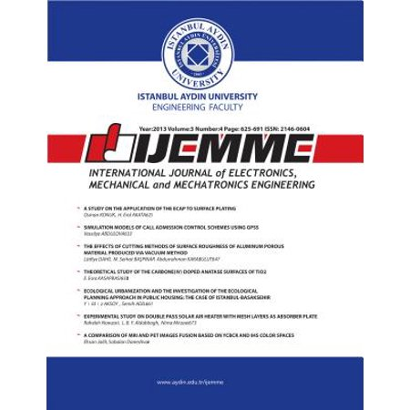 International Journal of Electronics, Mechanical and Mechatronics Engineering - (Journal Of Advanced Mechanical Design Systems And Manufacturing)