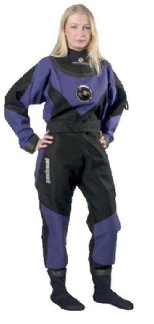 Typhoon Scuba Diving Dry Suit with Rock Boots - Womens