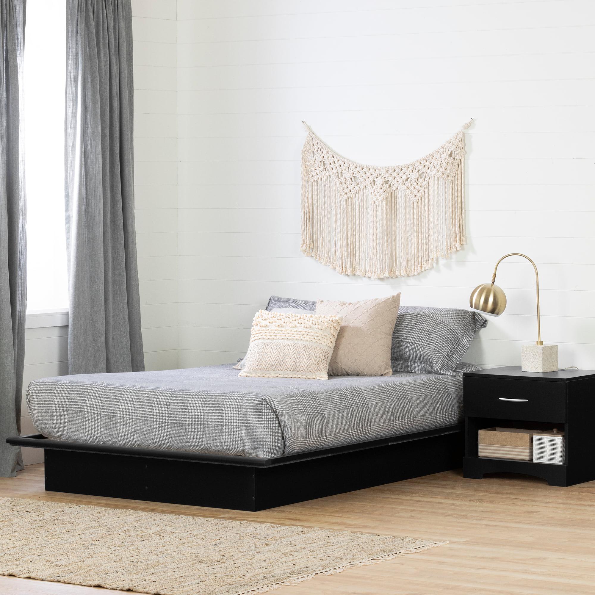South Shore Basics 54 Full Size Platform Bed With Molding Multiple Finishes Walmart Com