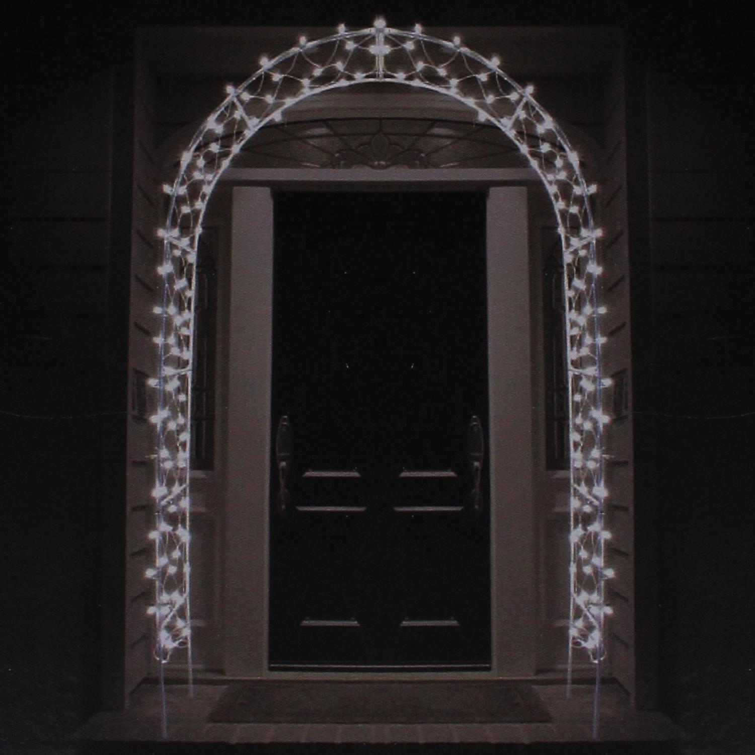 8' Lighted Entryway Front Door Archway Christmas Yard Art ...