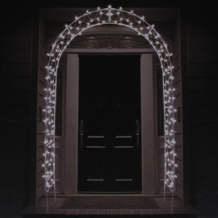 8 lighted entryway front door archway christmas yard art decoration clear lights