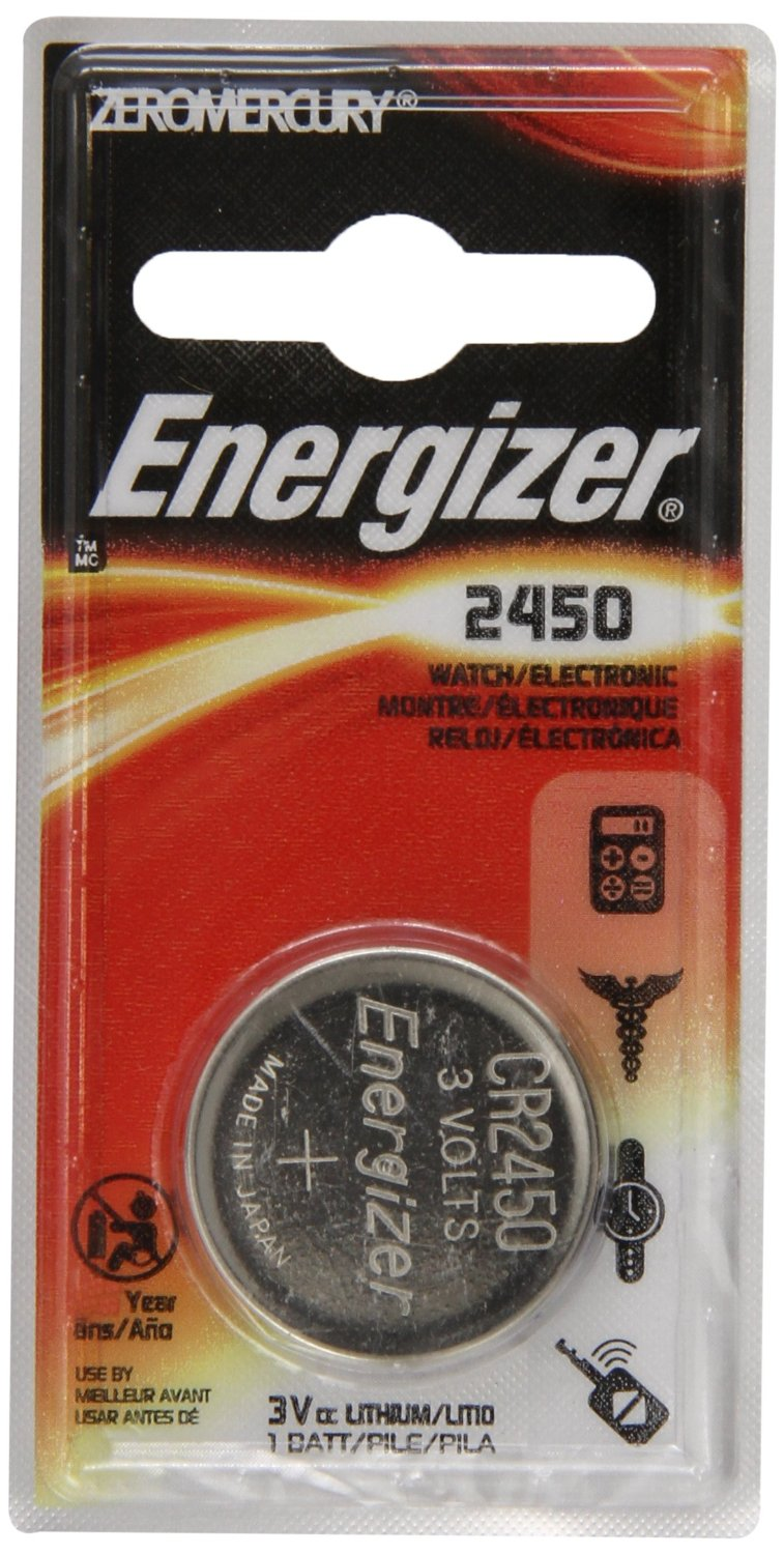 Energizer CR2450 ECR2450 CR 2450 3V Lithium Coin Cell Button Battery by