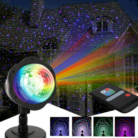 Ktaxon LED Xmas Projector Light Show with Remote Controller ,Outdoor Landscape Lawn Lamp RGBW Light for Xmas Party Decoration (Best Black Lights For Parties)