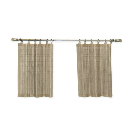 Versailles Home Fashions Bamboo Ring Top Tier Curtain (Set of 2)