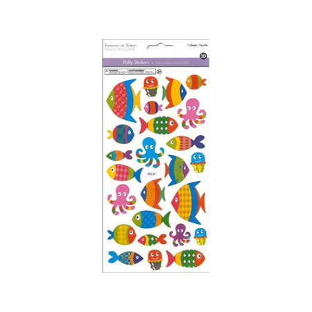 Multicraft Sticker 3D Puffy Fish Style - Fish Stickers