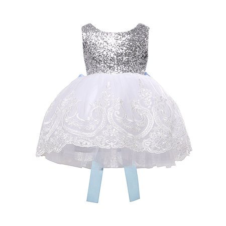 Tutu Dress For Toddlers (Flower Girl Princess Lace Bridesmaid Wedding Dress Gown Tulle Tutu for Baby)