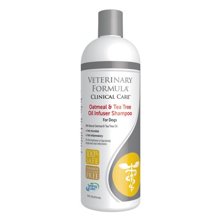 Veterinary formula clinical care oatmeal and tea tree oil infuser shampoo for dogs, 16-oz