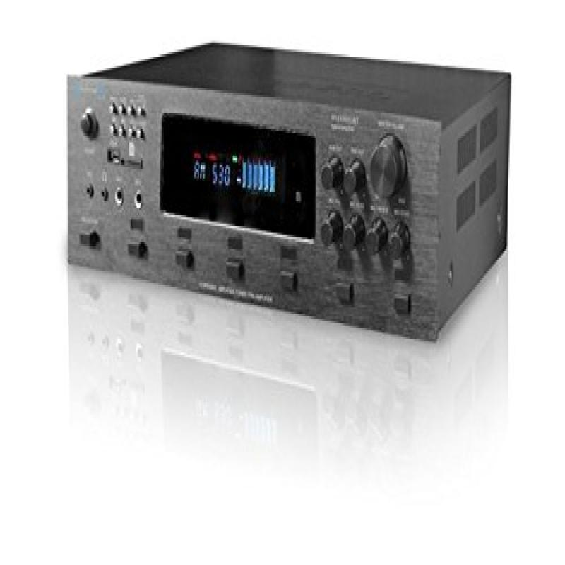 Technical Pro h12x500ubt Digital Hybrid Amplifier, Preamp & Tuner With 12 Speaker Output